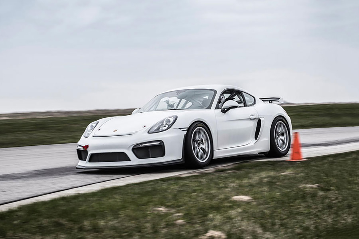 Porsche Cayman GT4 Clubsport track day hire